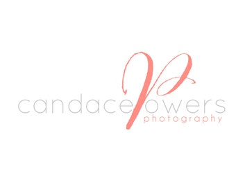 Custom Logo Design Premade Logo with Watermark for Photographers and Small Crafty Boutiques Text Logo with Monogram Letter