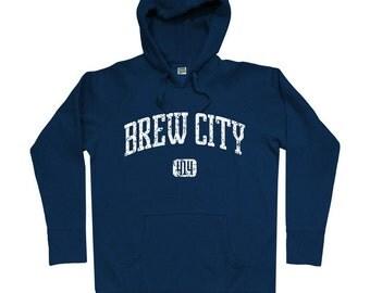 Brew City 414 Hoodie - Milwaukee - Men S M L XL 2x 3x - Milwaukee Hoody Sweatshirt - 4 Colors