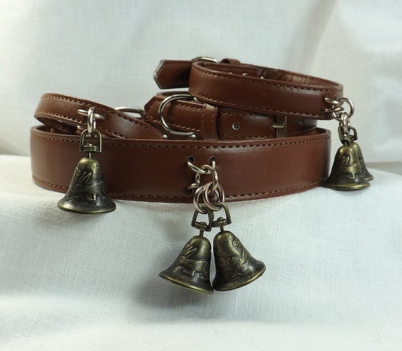 Bdsm Collar And Cuff Set Slave Bell Collar By