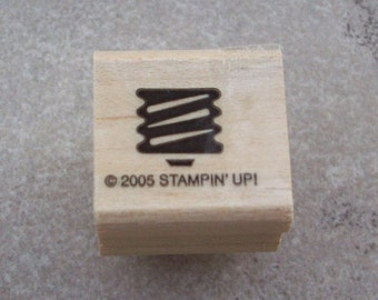 Light Bulb Base Rubber Stamp by Stampin' up!