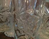 Set of Six Small Cut Glass Tumblers- ND381