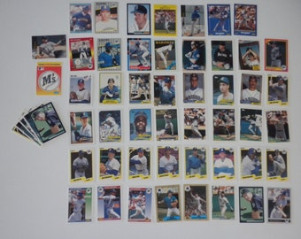 Seattle Mariners Baseball  Trading Cards Vintage Lot of 64 Cards