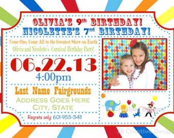 Circus Invitation Carnival Invite Circus Invite Carnival Invitation Carnival Birthday Party Circus Birthday Party Invitation Kids Invite