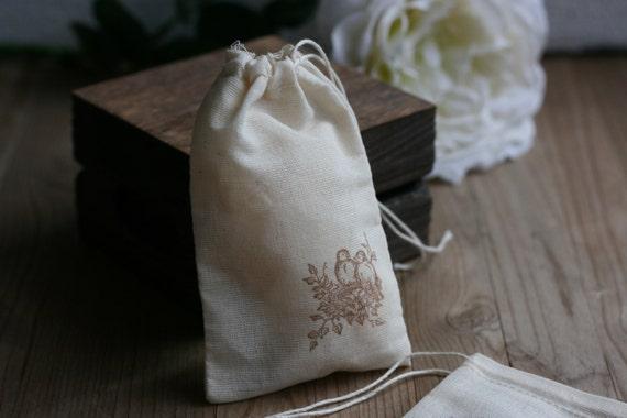 of 24 muslin wedding favor bag, NaTuRaL MuSLiN , rustic wedding favor ...