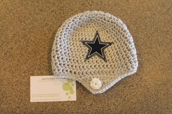 Dallas Cowboys Crochet Baby Hat Pattern : Crochet Dallas Cowboys NFL Helmet Hat by JustForBabyWithLove