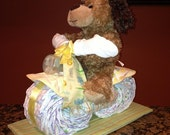 Diaper Motorcycle - Unique Baby Shower Gift or Centerpiece