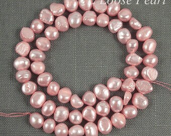 Corn pearl Freshwater Pearl Potato pearl Pink seed pearl Loose Pearls,pearl necklace 6.0-7.0mm 56pcs Full Strand PL1035