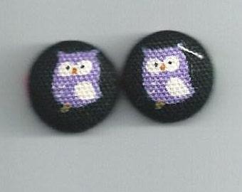 Purple Owl Bobby Pins or Earrings