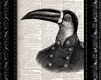 Pelican Dictionary Print, Animal Humor Geekery, Dictionary Print  Book Page Art Upcycled Vintage Book Art
