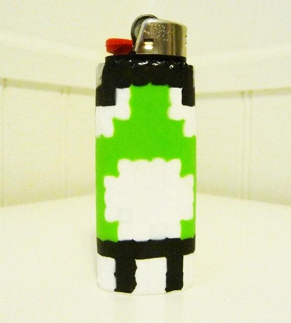 Case Design create ur own phone case : 1up Mushroom Perler Bead LIGHTER CASE by LighterCases on Etsy