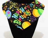 Happy Birthday Reversible Dog / Pet Bandanas