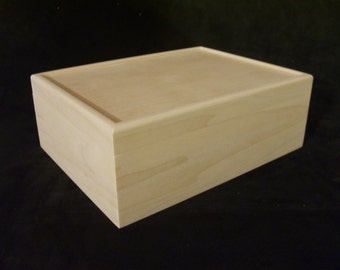 Unfinished Wooden Box with Hinges-12 x 9 x 4 1/4-unfinished wood box-ready to finish-engravable wood box-personalized laser engraving