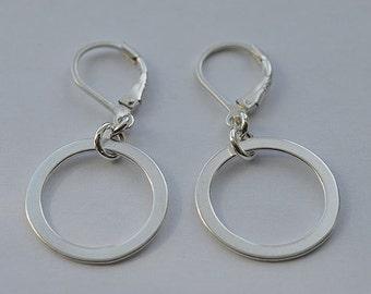 Sterling Silver Lever Back Earrings 02