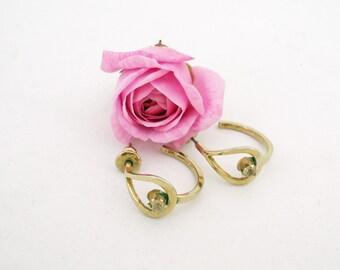 Napier Stud Earrings, Clear Rhinestone Earrings, Hoop Earrings, Gold Tone Earrings, UK Seller