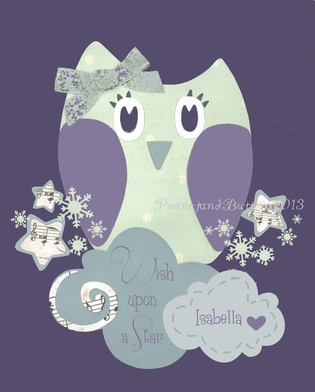 purple gray nursery baby girl nursery owl nursery art. Black Bedroom Furniture Sets. Home Design Ideas