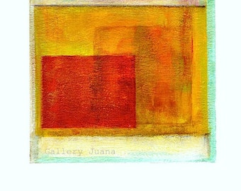 Abstract painting 11.01.2013, 8 x 10 paper