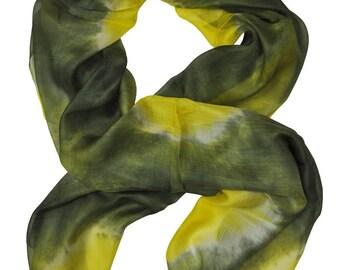 Usma Naturel Ikat Silk Scarf - 6019