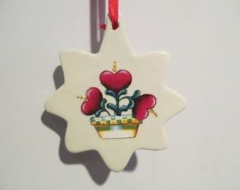 Heart Porcelain Ornament