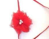 Red tulle  headband