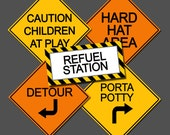 Construction Birthday - Road Signs