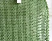 Jute Fabric in Moss - 14 Inches Wide - ONE YARD CUT
