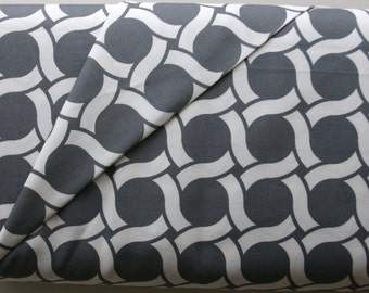 Organic Canvas Circles in Metal from the Cloud9 GeoCentric Collection - ONE HALF YARD Cut