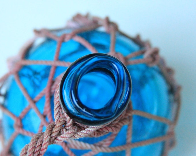 Sky Blue Pirates Rum Jug in Rope Netting by SEASTYLE