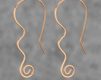 Copper Scroll Earring Free US Shipping handmade anni designs