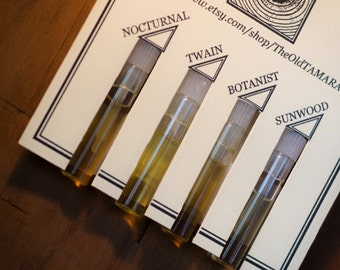 Natural Cologne Sampler - Four Samples, Botanical, for Men and Women