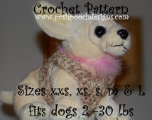 Instant Download Crochet Pattern - Dog Harness Sizes XXS to Large