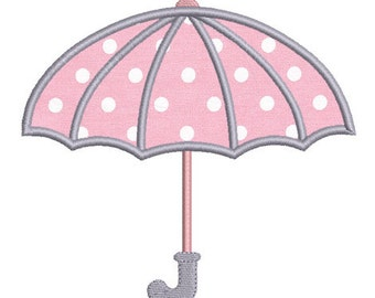 Instant download umbrella embroidery design