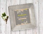 wedding plate - unique wedding gift - for couple - wedding invitation plate - wedding keepsake - decoupage plate - 1st anniversary gift