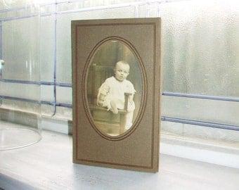 Adorable Victorian Baby Portrait Vintage 1910s Photograph