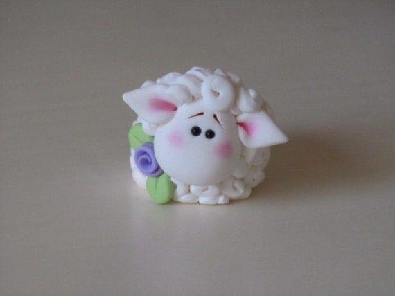 Polymer Clay Lamb