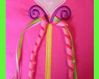 Princess wand Applique design