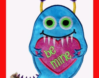 Little Love Monster applique design
