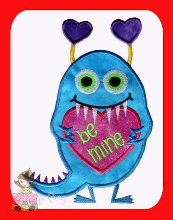 Little Love Monster applique design
