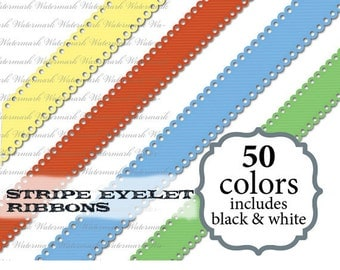 Eyelet digital ribbon clipart ribbon clip art, cute scrapbook : c0085 & v301 black