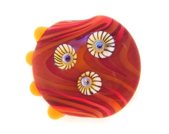 September Lampwork Focal Bead