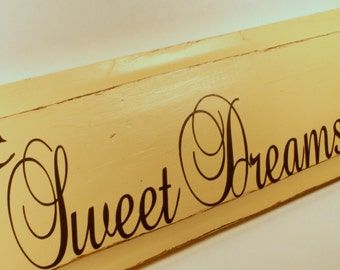 Distressed Wooden Wall Sign - Sweet Dreams - Nursery Decor - Baby Room - Gift - Shower Gift