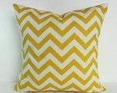 Yellow Chevron Decorative Pillow Cover, Corn Yellow, Pillow Cushion