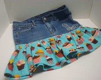 Denim cotton skirt