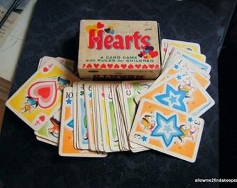 Vintage Hearts Card Game Whitman's 1950 Color illustrations complete set memorabilia