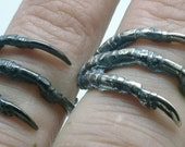Raven Claw Ring in Sterling Silver, Magpie