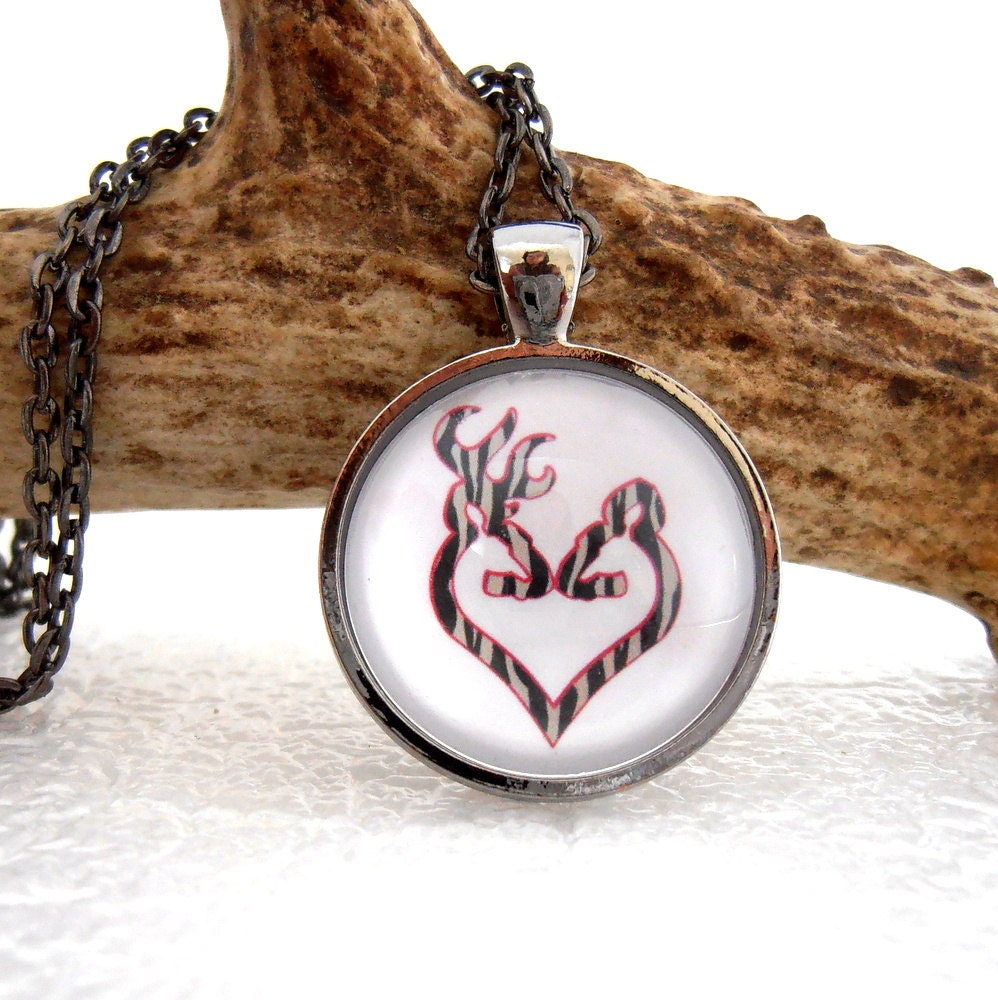 deer pendant buck and doe necklace couples by
