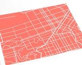 San Francisco City Map Art Print / Digital Print Wall Poster / 8x10 Line Art / Choose your color