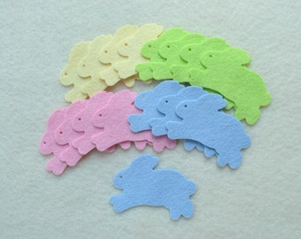 16 Piece Die Cut Felt, Spring Leaping Bunnies