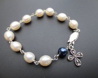 Something Blue in Freshwater Pearls