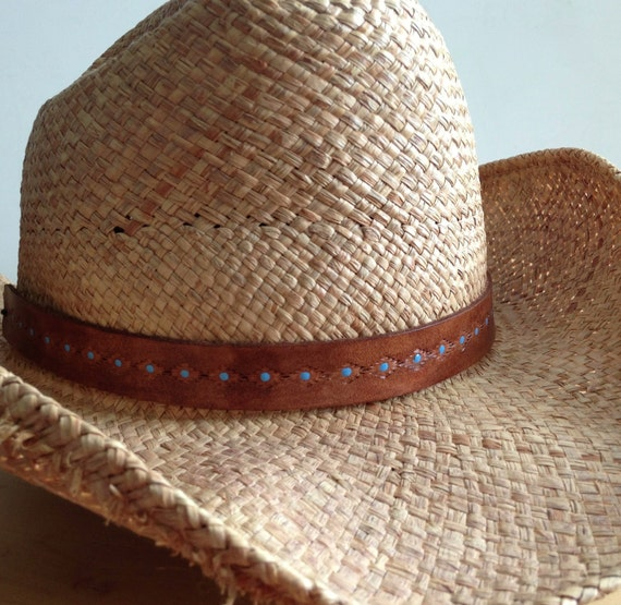 Leather Hat Band cowboy hat cowgirl southwest by ...