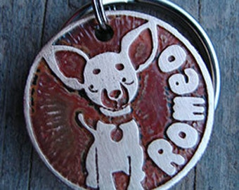 Chihuahua Pet Tag, Dog Tag, Custom Dog Tag, Etched, Pet ID Tag